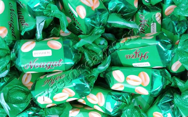 Рошен / Roshen Нуга с арахисом и мягкой карамелью / Nougat